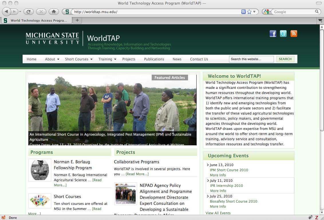 WorldTAP launches new website