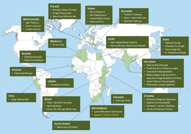 Borlaug Fellows Map 2014